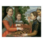 Juego del ajedrez, 1555 poster