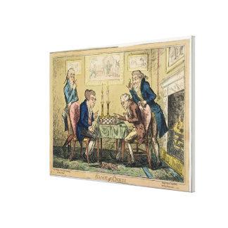 Juego del ajedrez, publicado por H. Humphrey, Lond Impresión En Lienzo Estirada