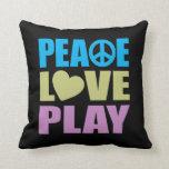 Juego del amor de la paz almohada