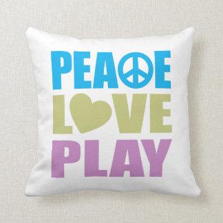Juego del amor de la paz cojin