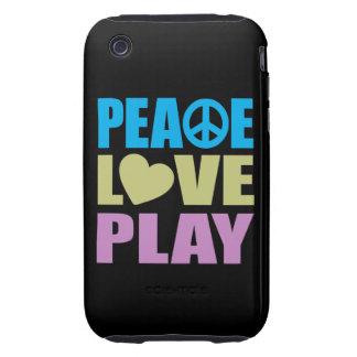 Juego del amor de la paz iPhone 3 tough carcasa