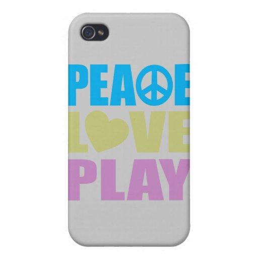 Juego del amor de la paz iPhone 4 cárcasas