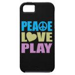 Juego del amor de la paz iPhone 5 carcasa
