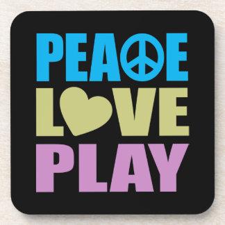 Juego del amor de la paz posavaso