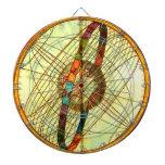 Juego del arte del vintage del mapa del globo del  tabla dardos
