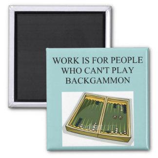 juego del backgammon imán de frigorífico