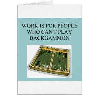juego del backgammon tarjeta