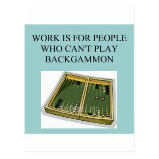 juego del backgammon postales