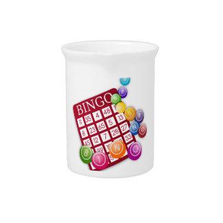 Juego del bingo jarras para bebida
