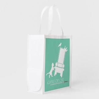 Juego del bolso Gato-Reutilizable Bolsas De La Compra