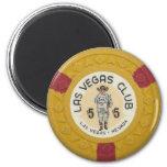 Juego del casino de la ficha de póker de Las Vegas Imán Para Frigorifico