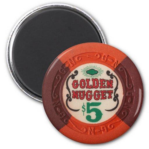 Juego del casino de la ficha de póker de Las Vegas Imanes Para Frigoríficos