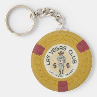 Juego del casino de la ficha de póker de Las Vegas Llavero Redondo Tipo Pin