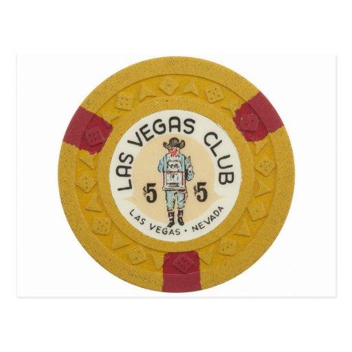 Juego del casino de la ficha de póker de Las Vegas Postal