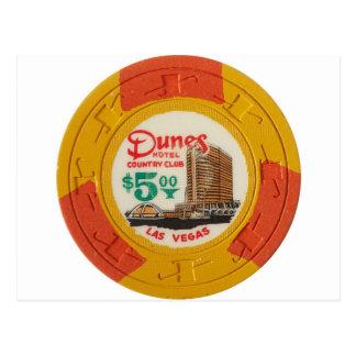 Juego del casino de la ficha de póker de Las Vegas Tarjetas Postales