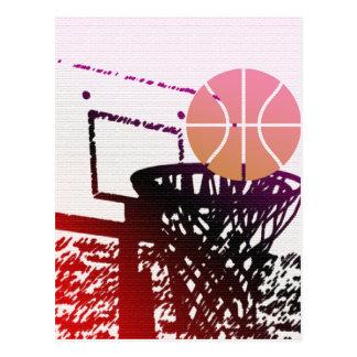 Juego del coche de la red del baloncesto de la postal