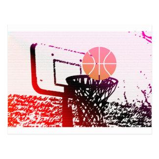 Juego del coche de la red del baloncesto de la tarjetas postales