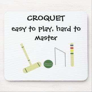 Juego del croquet alfombrilla de ratones