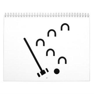 Juego del croquet calendarios