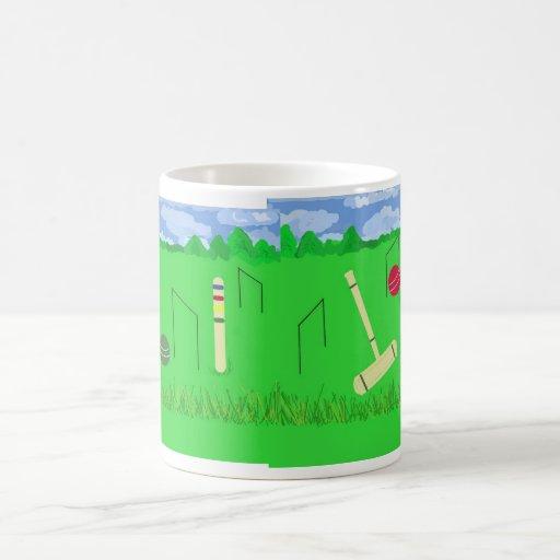 Juego del croquet tazas