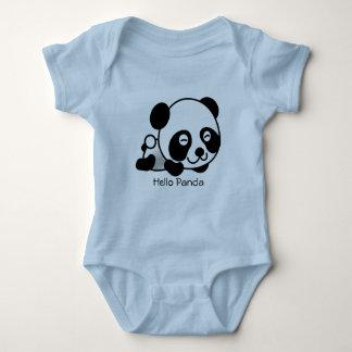 Juego del cuerpo del bebé azul de la panda playera