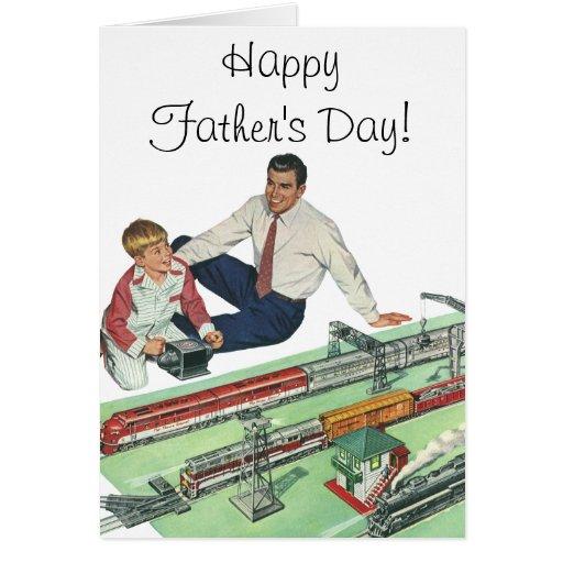 Juego del día de padre del vintage, del papá y del tarjeta de felicitación