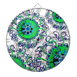 Juego del diseño gráfico del arte pop de la mandal tablero dardos