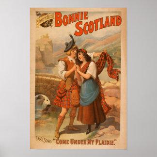 Juego del escocés de Bonnie Escocia de Sidney R. E Póster
