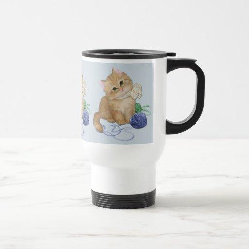 Juego del gatito taza térmica