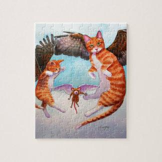 Juego del gato y del ratón del ángel puzzle