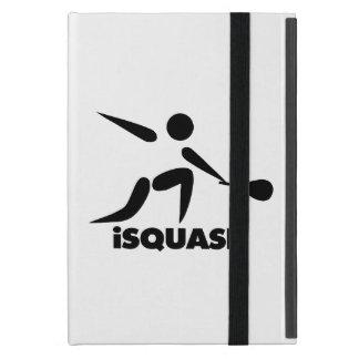 Juego del logotipo del iSquash de la calabaza iPad Mini Fundas