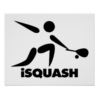 Juego del logotipo del iSquash de la calabaza Póster