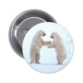 Juego del oso polar pin redondo de 2 pulgadas