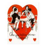 Juego del puente del el día de San Valentín Postal