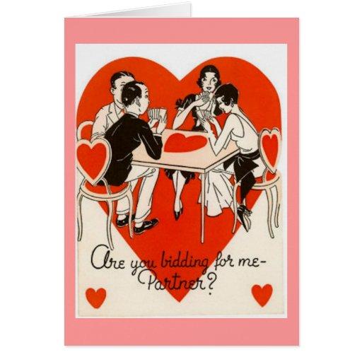 Juego del puente del el día de San Valentín Tarjeta De Felicitación