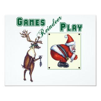 """Juego del reno de los juegos invitación 4.25"""" x 5.5"""""""