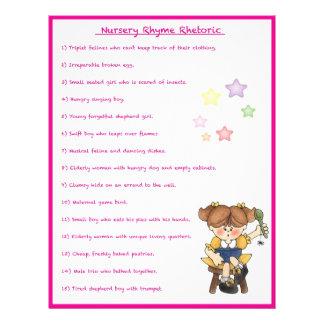 Juego del retórico de la poesía infantil - estilo  flyer personalizado