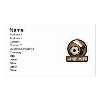 Juego del retroceso del fútbol sobre las camisetas tarjetas personales