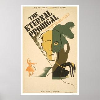 Juego despilfarrador eterno WPA 1938 Impresiones