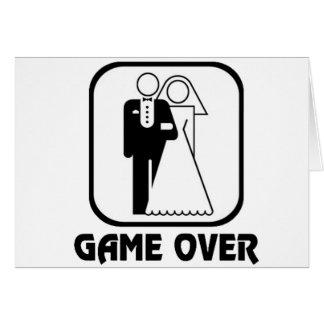 Juego divertido del boda encima tarjeta de felicitación