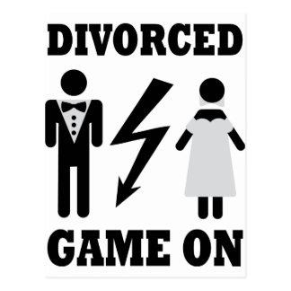juego divorciado en icono postal