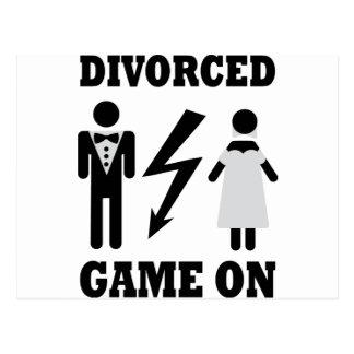 juego divorciado en icono tarjeta postal