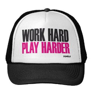 juego duro del trabajo más duro gorro