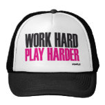 juego duro del trabajo más duro gorros bordados