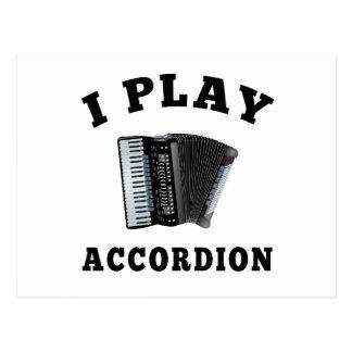 Juego el acordeón tarjetas postales