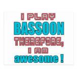 ¡Juego el Bassoon por lo tanto, yo soy Postales