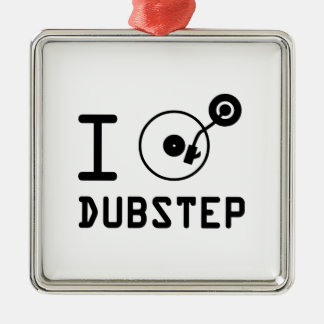 Juego el corazón Dubstep de Dubstep/I del amor de Adorno Navideño Cuadrado De Metal