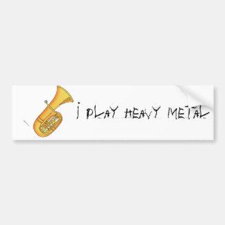 Juego el metal pesado pegatina para auto