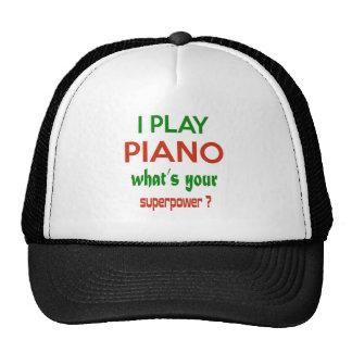 ¿Juego el piano cuál es su superpotencia? Gorro