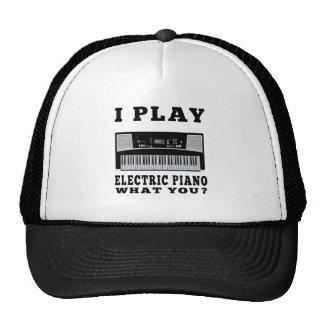Juego el piano eléctrico gorros